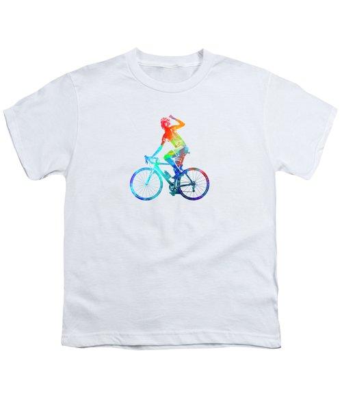 Woman Triathlon Cycling 03 Youth T-Shirt