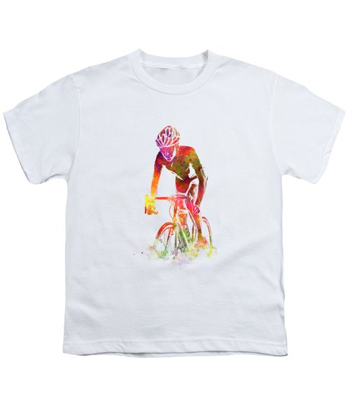 Woman Triathlon Cycling 04 Youth T-Shirt
