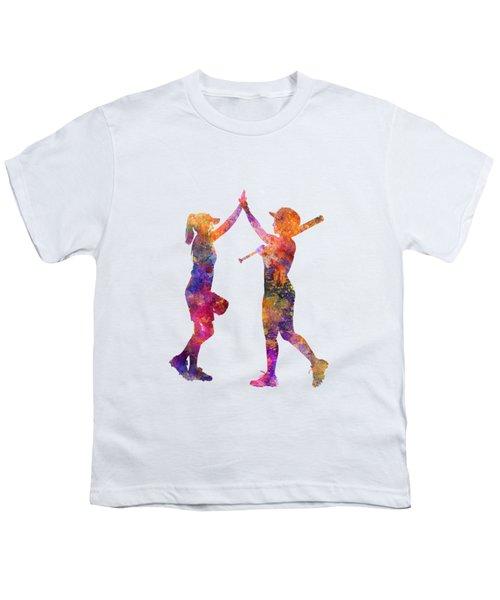 Women Playing Softball 01 Youth T-Shirt