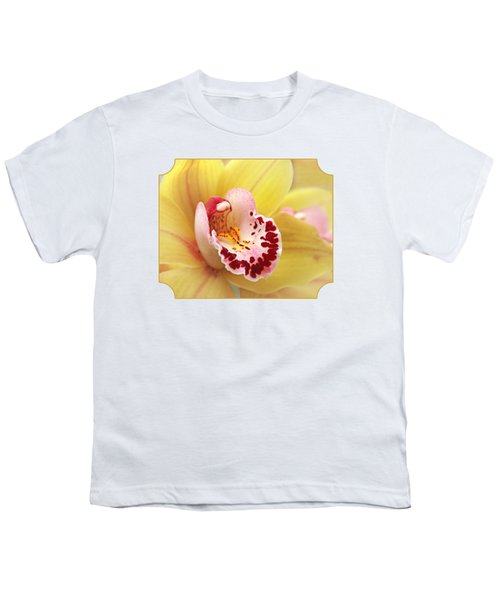 Yellow Cymbidium Orchid Youth T-Shirt