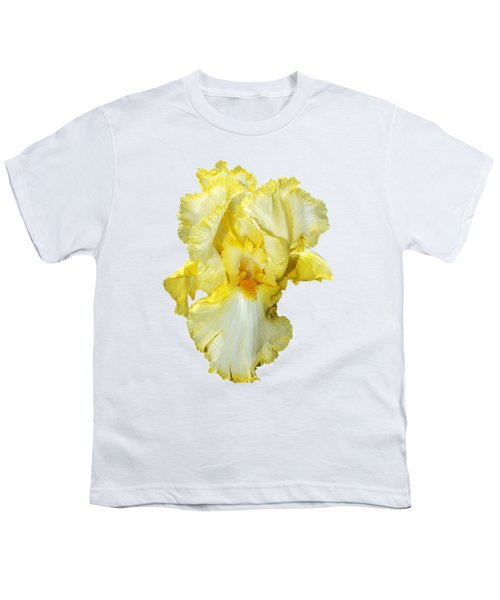 Yellow Mist Iris Youth T-Shirt by Phyllis Denton