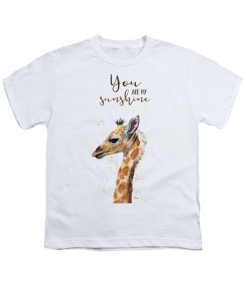 You Are My Sunshine Giraffe Youth T-Shirt