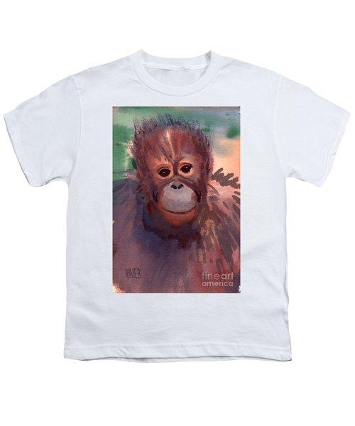 Young Orangutan Youth T-Shirt by Donald Maier