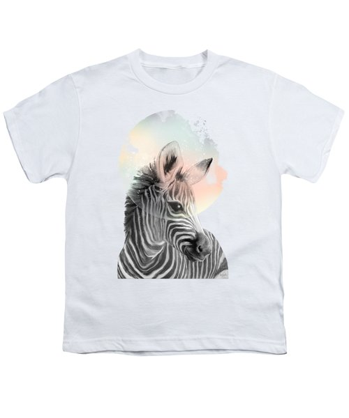 Zebra // Dreaming Youth T-Shirt by Amy Hamilton