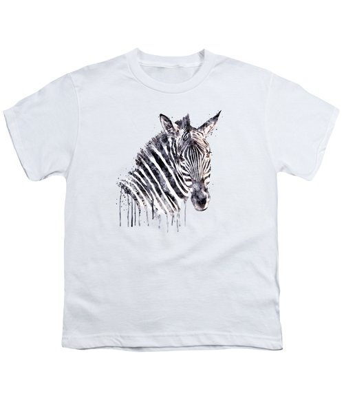 Zebra Head Youth T-Shirt by Marian Voicu