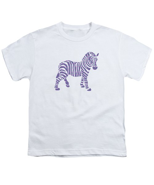 Zebra Stripes Pattern Youth T-Shirt by Christina Rollo