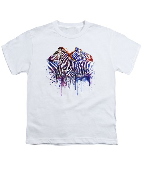 Zebras In Love Youth T-Shirt by Marian Voicu