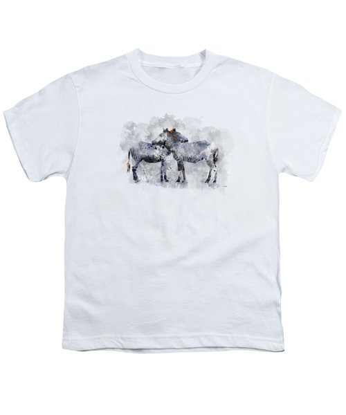 Zebras Youth T-Shirt by Marlene Watson
