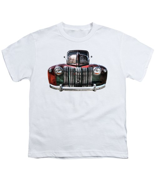 Colorful Rusty Ford Head On Youth T-Shirt