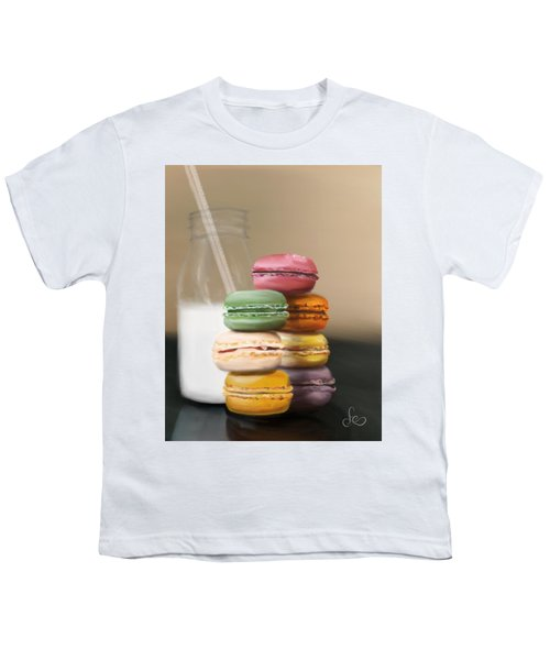 Youth T-Shirt featuring the pastel Macaroons  by Fe Jones