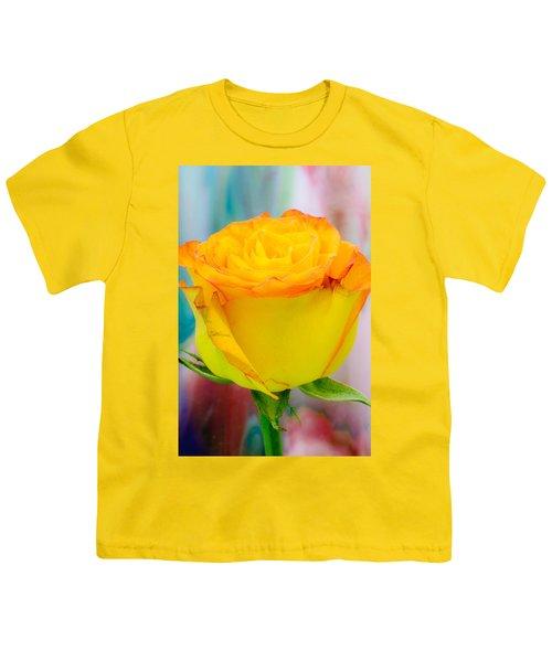 Yellow Rose Macro Youth T-Shirt