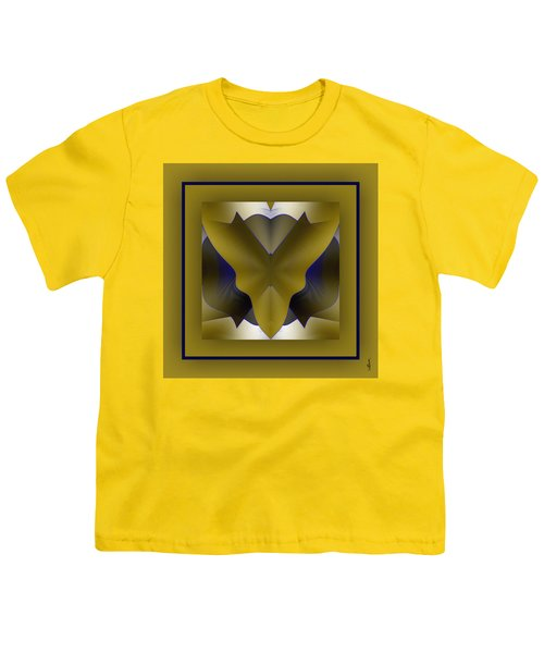 Youth T-Shirt featuring the digital art The Butterfly by Mihaela Stancu