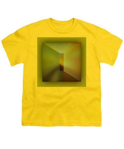 Youth T-Shirt featuring the digital art The Focus - Yellow by Mihaela Stancu