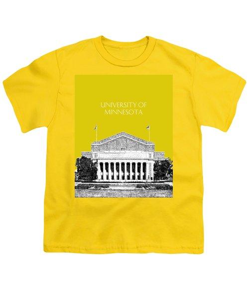 University Of Minnesota 2 - Northrop Auditorium - Mustard Yellow Youth T-Shirt