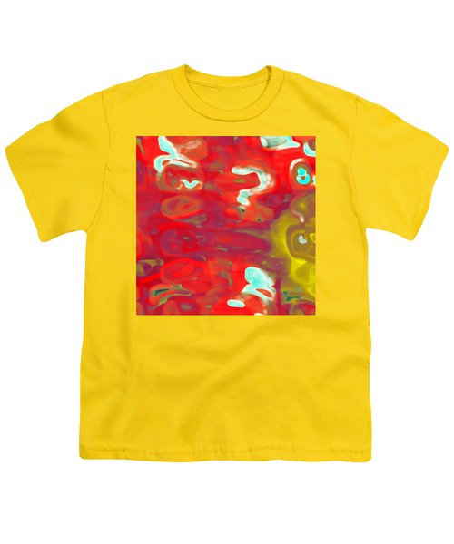 Youth T-Shirt featuring the digital art Cromatic by Mihaela Stancu