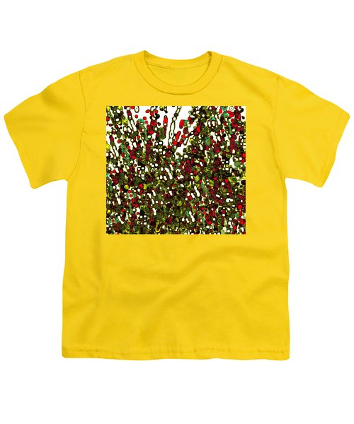 Youth T-Shirt featuring the digital art The Crowd by Mihaela Stancu