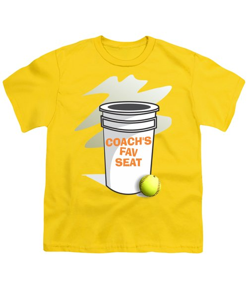 Coach's Favorite Seat Youth T-Shirt by Jerry Watkins