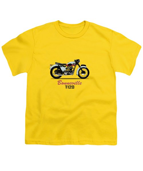 1959 T120 Bonneville Youth T-Shirt by Mark Rogan