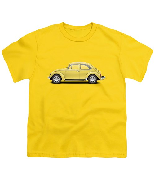 1972 Volkswagen Beetle - Saturn Yellow Youth T-Shirt by Ed Jackson