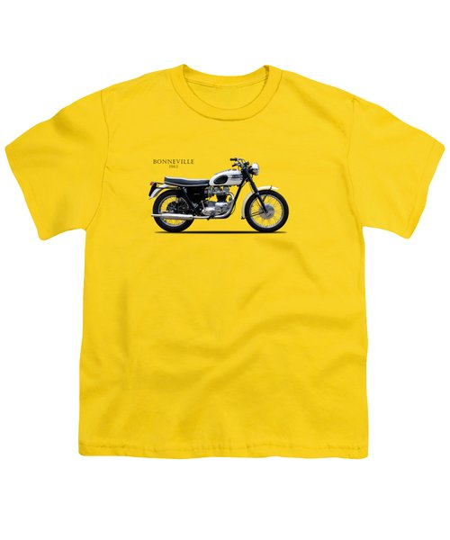 Triumph Bonneville 1963 Youth T-Shirt by Mark Rogan