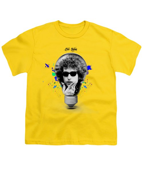 Bob Dylan Collection Youth T-Shirt by Marvin Blaine
