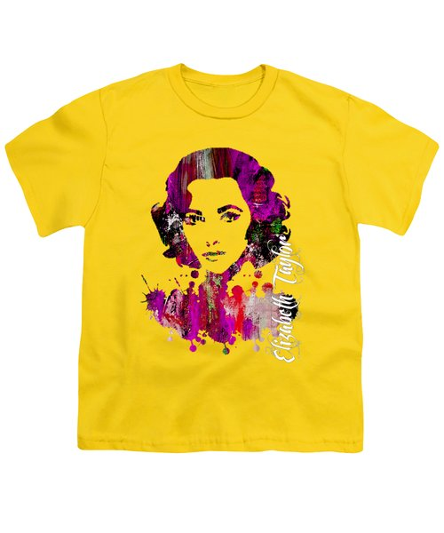 Elizabeth Taylor Collection Youth T-Shirt by Marvin Blaine