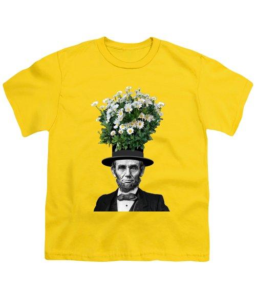 Abraham Lincoln Presidential Daisies Youth T-Shirt by Garaga Designs