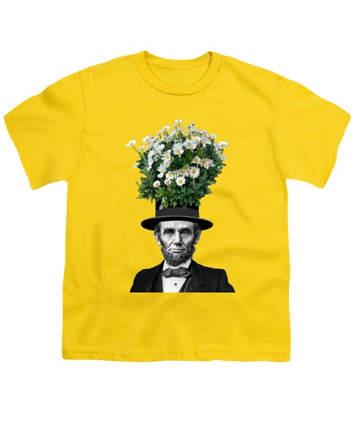 Abraham Lincoln Presidential Daisies Youth T-Shirt