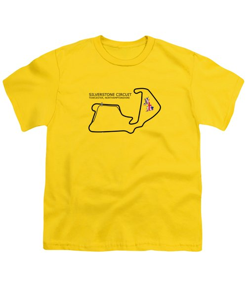 Silverstone Circuit Youth T-Shirt by Mark Rogan