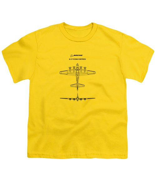 B-17 Flying Fortress Youth T-Shirt by Mark Rogan