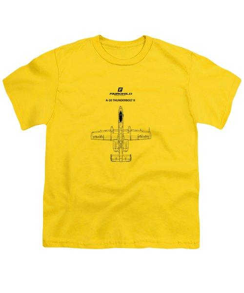 The A-10 Thunderbolt Youth T-Shirt by Mark Rogan