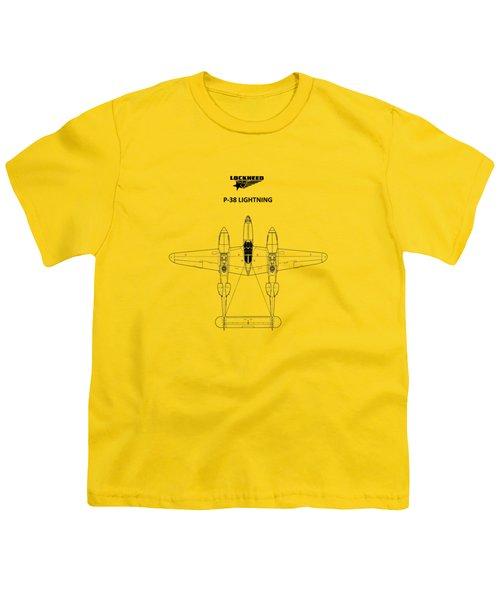 The P-38 Lightning Youth T-Shirt by Mark Rogan