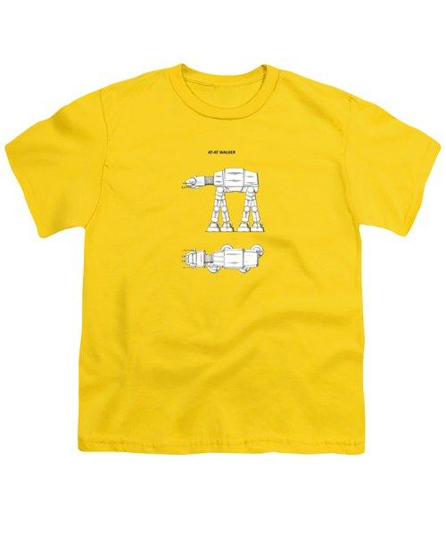 Star Wars - At-at Patent Youth T-Shirt by Mark Rogan