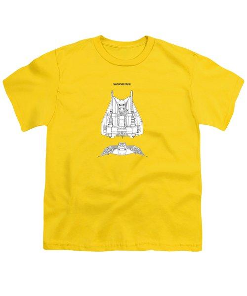 Star Wars - Snowspeeder Patent Youth T-Shirt by Mark Rogan