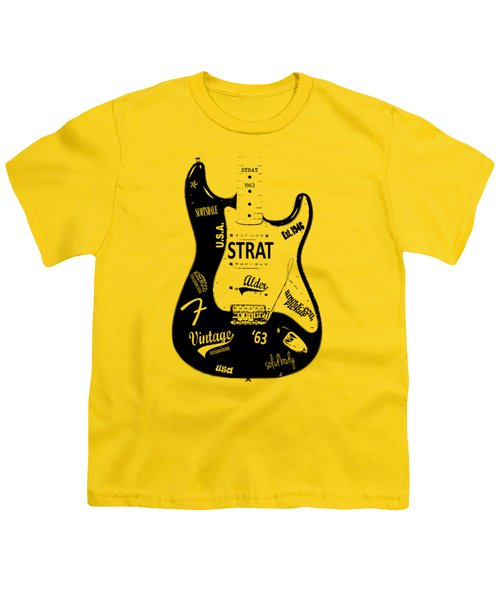 Fender Stratocaster 63 Youth T-Shirt by Mark Rogan