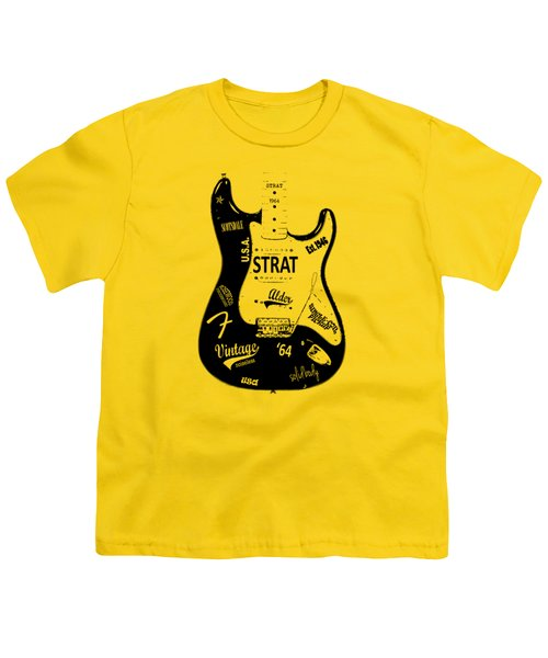 Fender Stratocaster 64 Youth T-Shirt by Mark Rogan