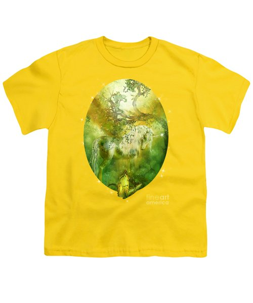 Unicorn Of The Forest  Youth T-Shirt