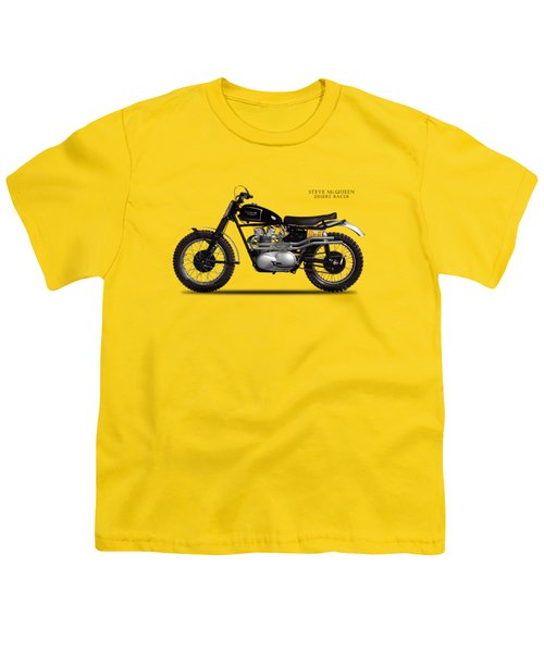 The Steve Mcqueen Desert Racer Youth T-Shirt by Mark Rogan