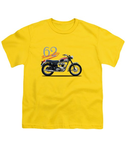 Bonneville T120 1962 Youth T-Shirt by Mark Rogan