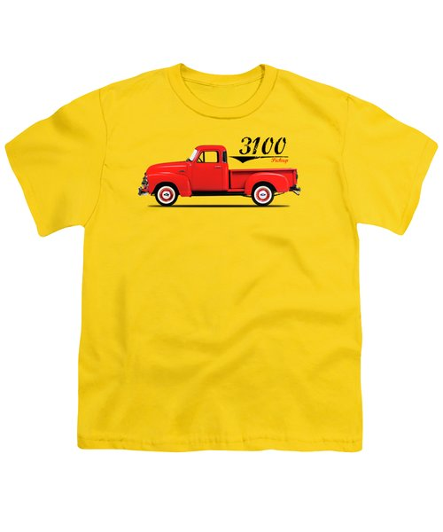 The 3100 Pickup Truck Youth T-Shirt by Mark Rogan