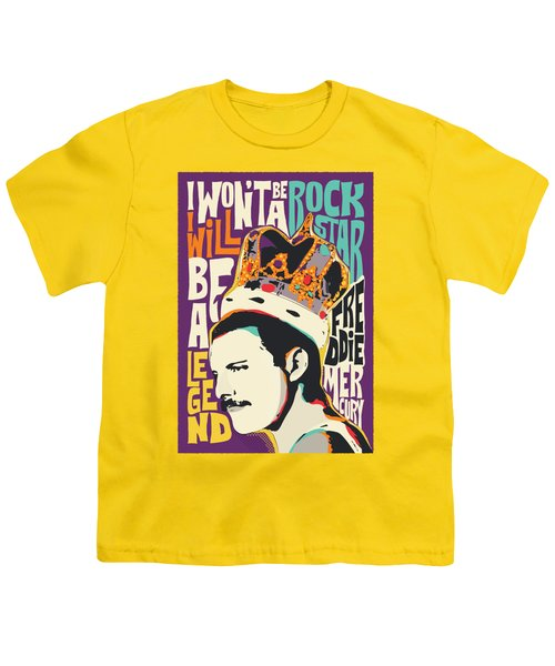 Freddie Mercury Pop Art Quote Youth T-Shirt