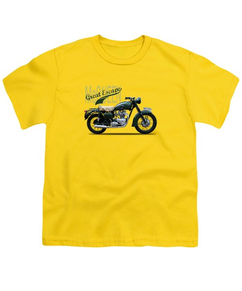 The Great Escape Motorcycle Youth T-Shirt by Mark Rogan