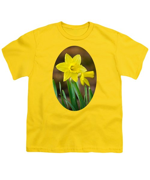 Beautiful Daffodil Flower Youth T-Shirt by Christina Rollo