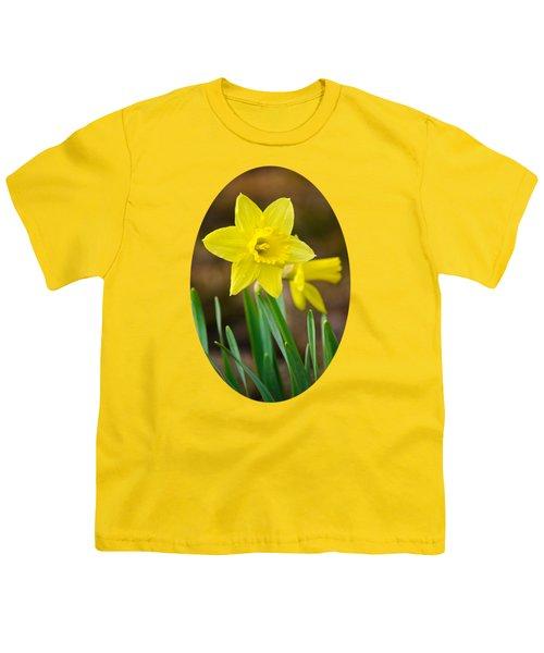 Beautiful Daffodil Flower Youth T-Shirt