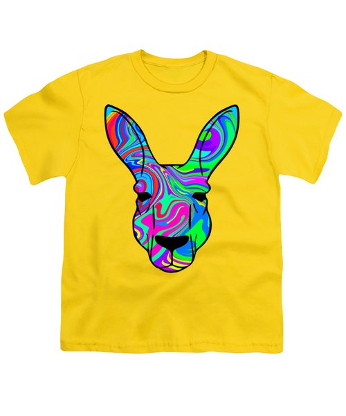 Colorful Kangaroo Youth T-Shirt by Chris Butler