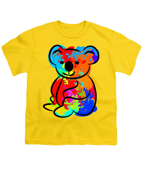 Colorful Koala Youth T-Shirt by Chris Butler