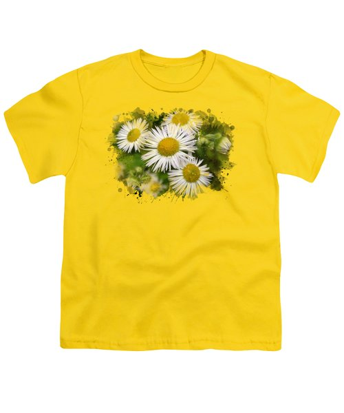 Daisy Watercolor Art Youth T-Shirt by Christina Rollo