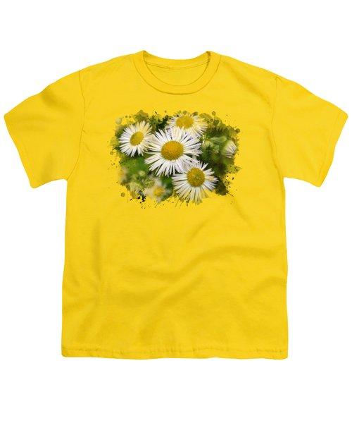 Daisy Watercolor Art Youth T-Shirt