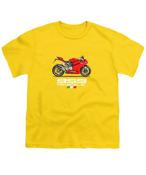 Ducati Panigale 959 Youth T-Shirt by Mark Rogan