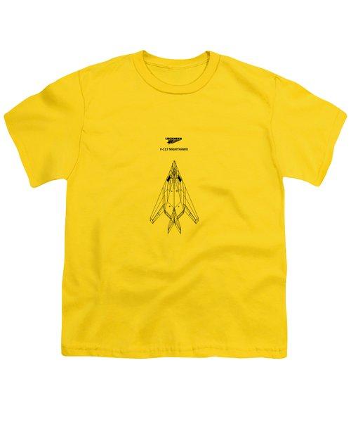 F-117 Nighthawk Youth T-Shirt by Mark Rogan